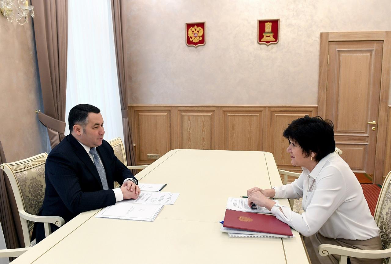 Игорь Руденя на встрече с главой города Кимры Ириной Балковой поставил задачи по развитию
