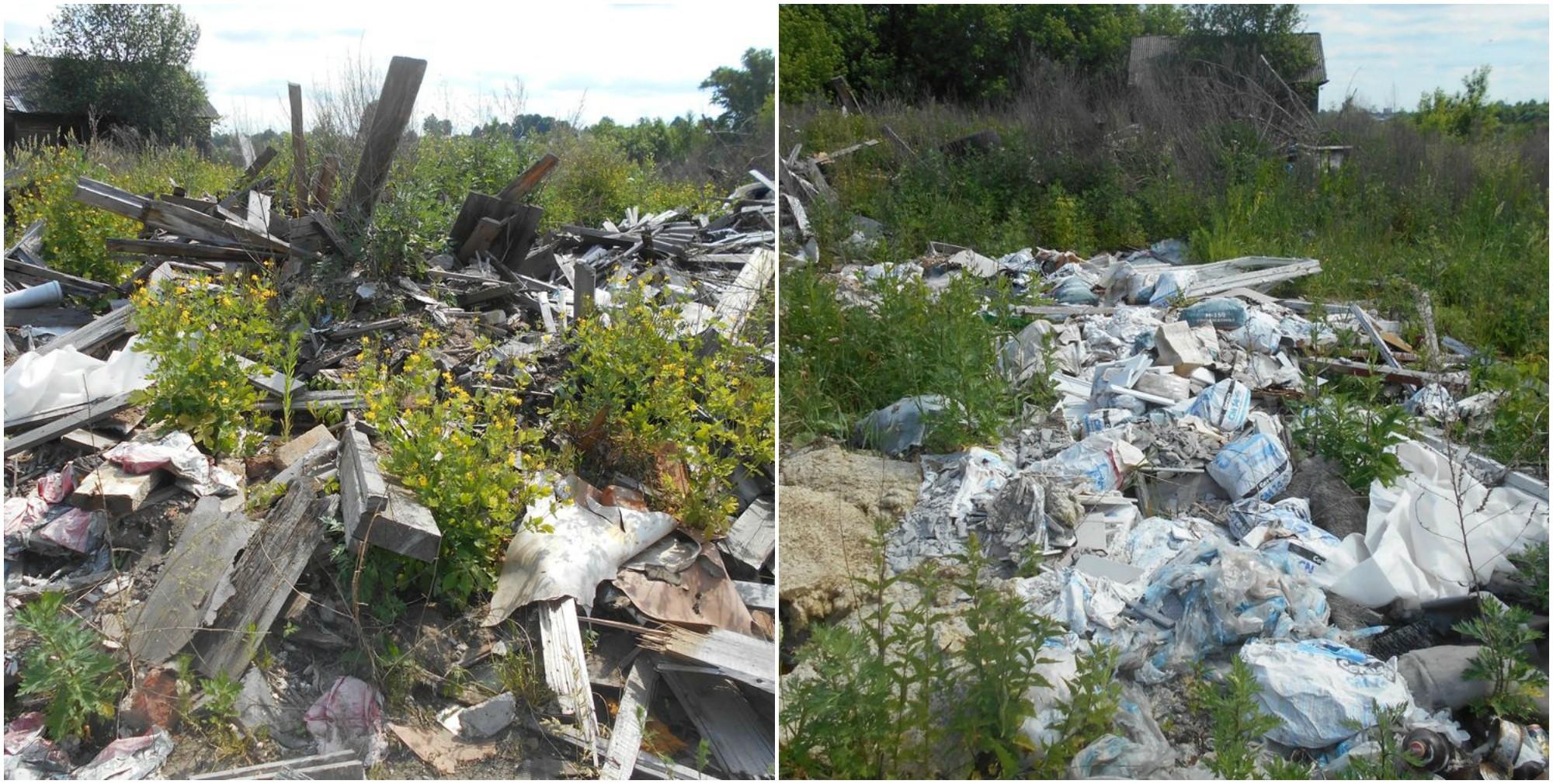 Под Кимрами сельхозугодия завалили мусором и организовали незаконный карьер