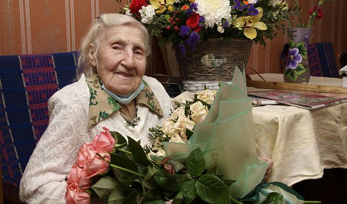В Кимрах участница Великой Отечественной войны Клавдия Сенаторова отметила столетие