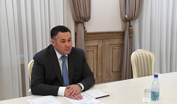 Игорь Руденя и глава Кимрского района обсудили вопросы газификации, здравоохранения и ЖКХ